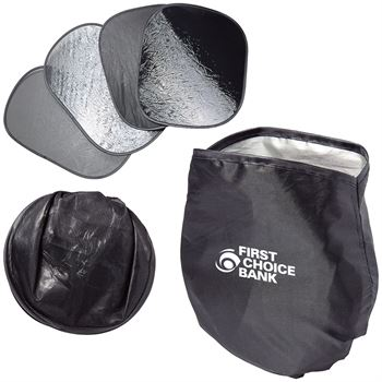 4-Piece Car Sun Shade - Personalization Available