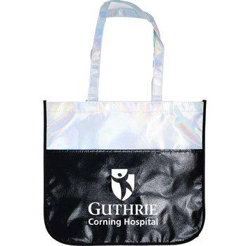Large Iridescent Laminated Tote Bag