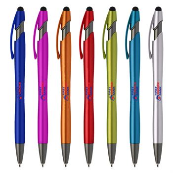 La Jolla Stylus Pen with Antimicrobial Additive - Full Color Personalization Available