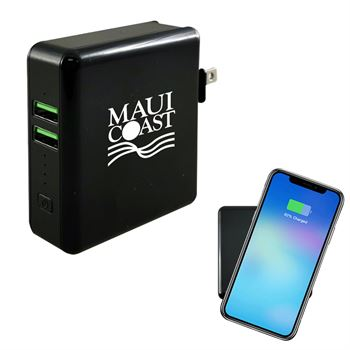 3-in-1 Wireless Super Charger with Wall Adapter -�Personalization Available