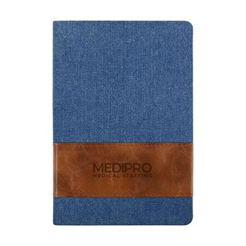 Denim with Leatherette Band Journal
