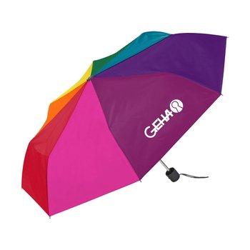 Mini Compact Umbrella - Rainbow
