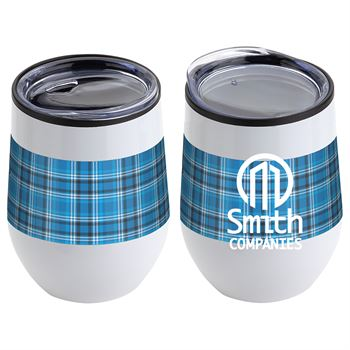 Onyx Stainless Steel/Polypropylene Wine Tumbler - 12 oz. - Personalization Available