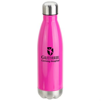 Curve Vacuum Insulated Stainless Steel Bottle -17 oz. - Personalization Available