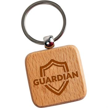 Square Wooden Key Tag - Personalization Available