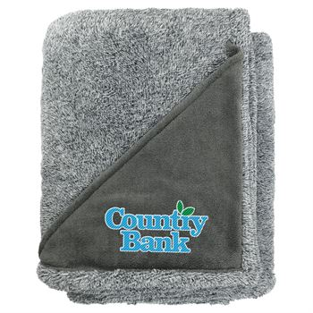 Heathered Fuzzy Fleece Blanket- Personalization Available