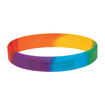 Rainbow Silicone Bracelet - Personalization Available