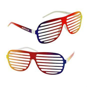 Rainbow Shutter Shades - Personalization Available