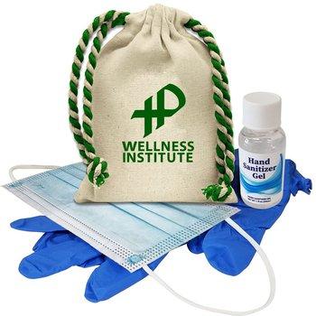 Cotton Drawstring Sanitizer Kit- Personalization Available