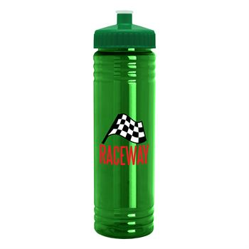 Hydration Slim Fit Water Bottle with Push Pull Lid - 24 oz.