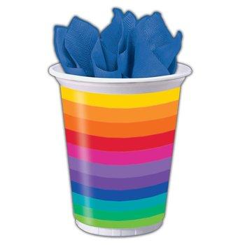 Rainbow Pride Plastic Cups -16oz - 8 Per Unit