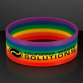Rainbow Stretch Silicone Bracelet