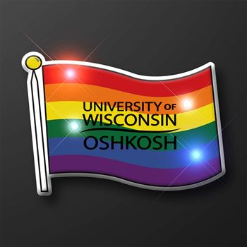 Light Up Rainbow Flag Pin - Personalization Available