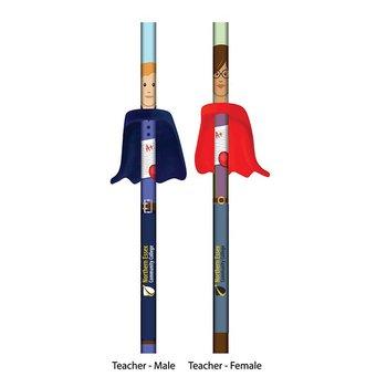 Teacher Hero Pencil With Cape Eraser