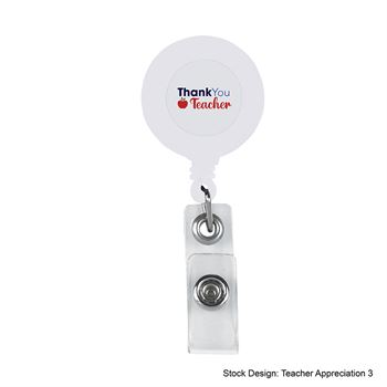 Teachers Appreciation Retractable Badge Holder With Laminated label