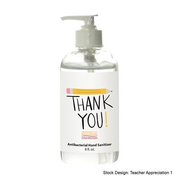 Teachers Appreciation Hand Sanitizer Pump 8 oz
