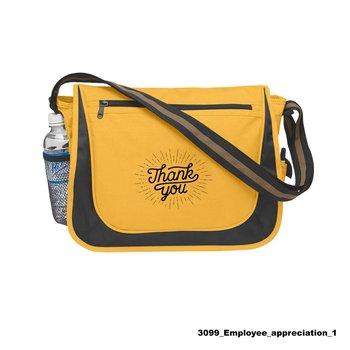 Teachers Appreciation Messenger Bag With Matching Striped Handle