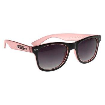 Two-tone Translucent Malibu Sunglasses