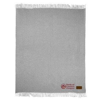 Herringbone Wool Blanket - Personalization Available