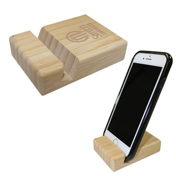 Bamboo Block Phone Stand- Personalization Available