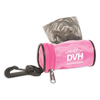 Pink Pet Bag Dispensor - Personalization Available