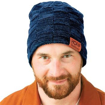 Leeman™ Fuzzy Lining Slouchy Beanie - Debossed Personalization Available