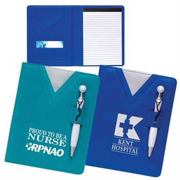 Scrubs Notebook With Swanky™ Stethoscope Pen - Personalization Available