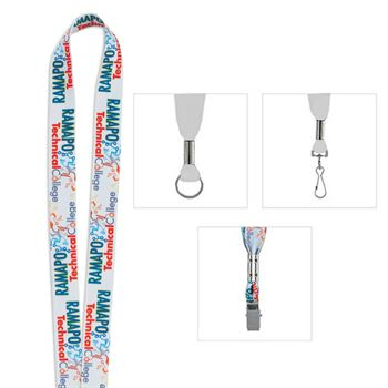 "3/4"" Fine Print Lanyard - Personalization Available"