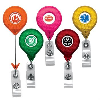 Jumbo Reflective Badge Reel - Personalization Available