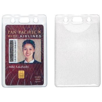 Clear Vertical Card Holder