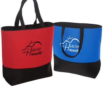 Two-Tone Commuter Tote-Neoprene - Personalization Available