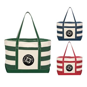 Cotton Canvas Nautical Tote - Personalization Available