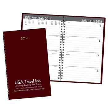 Classic 2019 Weekly Desk Planner - Spiral - Personalization Available