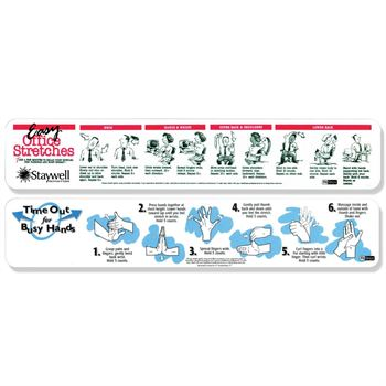 Classic FitStrip - Easy Office Stretches and Time Out for Busy Hands - Personalization Available