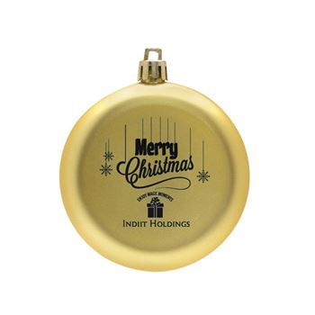 Shatter-Resistant Flat Round Ornament - Personalization Available
