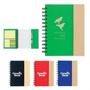 Magnetic Eco-Journal With Sticky Pads & Pen - Personalization Available