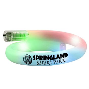 Flashing Spiral Tube Bracelet - Personalization Available