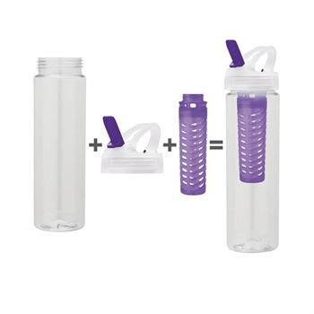 25-oz. PET Water Bottle With Flip Spout & Infuser - Personalization Available