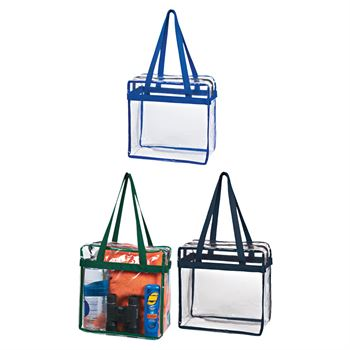 Clear Tote With Zippered Top
