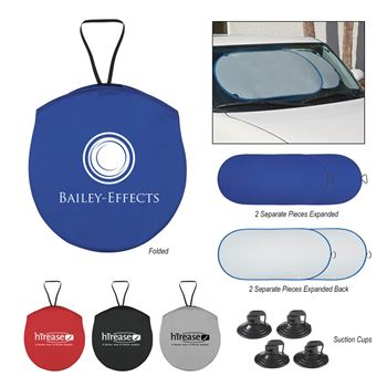 Collapsible Automobile Sun Shade - Personalization Available