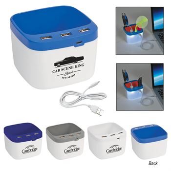 USB Desk Caddy - Personalization Available