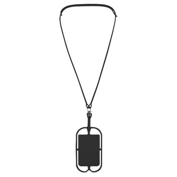 Silicone Lanyard with Phone Holder & Wallet - Personalization Available