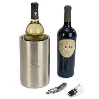 Huntington Stainless Steel Wine Kit - Personalization Available