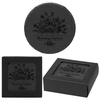 Round Slate Coaster Set - Personalization Available
