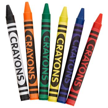 6-Piece Crayon Set - Personalization Available