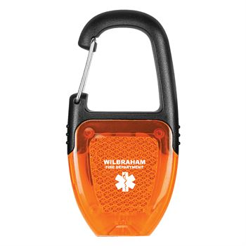 Reflector Key Light With Carabiner - Personalization Available