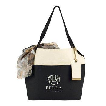 Tori Cotton Fashion Tote - Personalization Available
