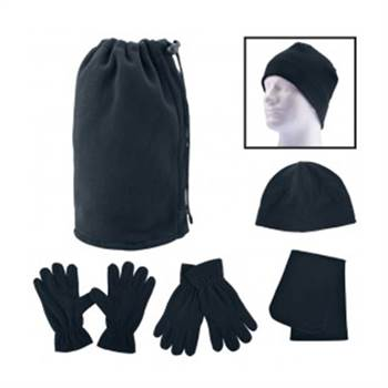 Fleece Winter Set in Pouch - Personalization Available