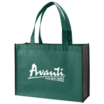 Two-Tone Non-Woven Shopping Tote - Personalization Available
