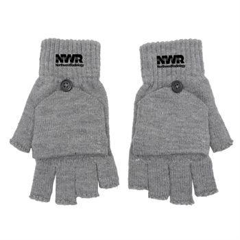 Fingerless Gloves With Flap - Personalization Available